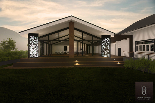 Impression by Peter Dunbar, architectual designer.