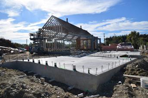 Progress photo from eight weeks into the revamp of the marae.