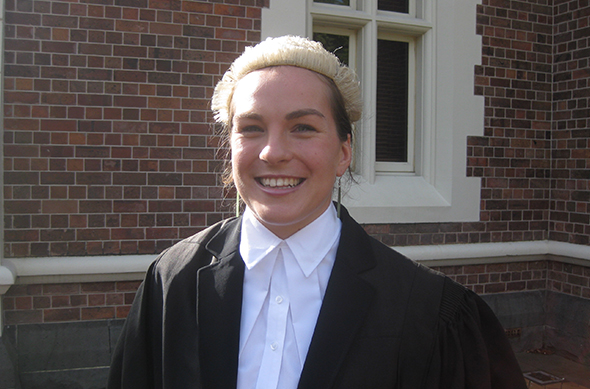 Rachel Robilliard – recently admitted to the bar.